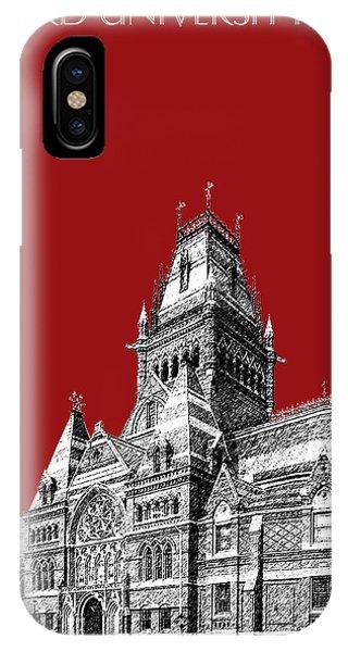 Harvard University - Memorial Hall - Dark Red IPhone Case