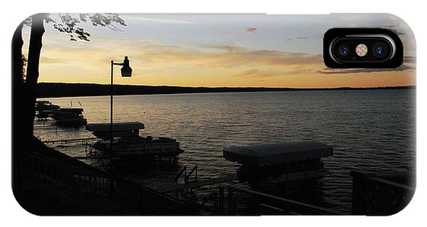 Hubbard Lake Sunset IPhone Case