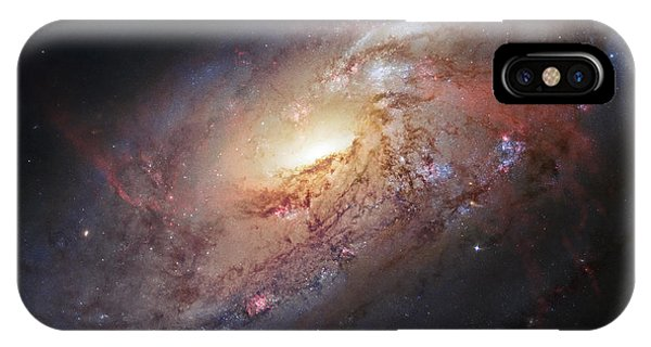 Hubble View Of M 106 IPhone Case