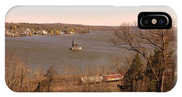 Hudson Train And Lighthouse IPhone Case