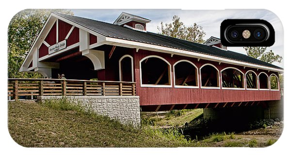 Hueston Woods Covered Bridge IPhone Case