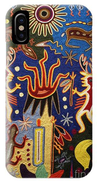 Huichol Yarn Painting Mexico IPhone Case