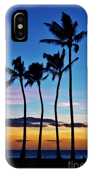 Hula Palms At Sunset IPhone Case