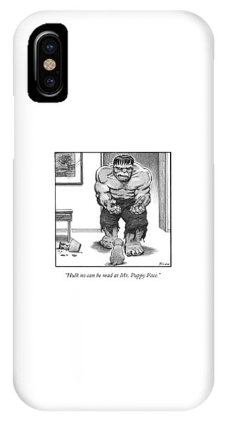 Hulk No Can Be Mad At Mr. Puppy Face IPhone Case