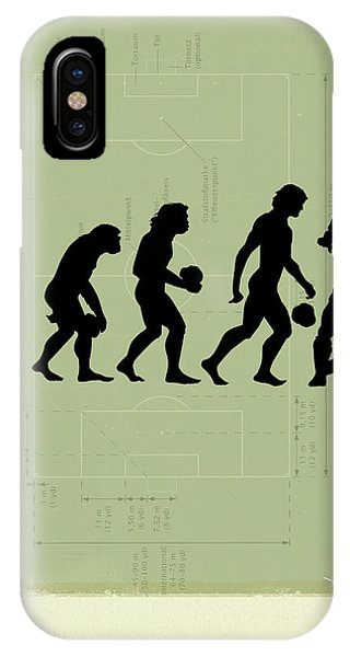 Soccer iPhone Case - Human Evolution by Smetek