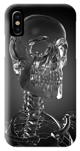 Human Skull Rendered In Glass Phone Case by Sebastian Kaulitzki/science Photo Library