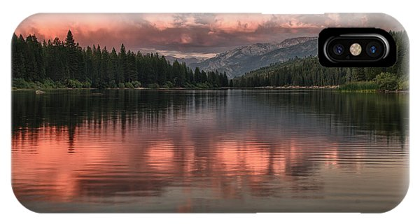 Hume Lake Sunset IPhone Case