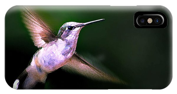 Beautiful Hummingbird iPhone Case - Hummer Ballet 1 by ABeautifulSky Photography by Bill Caldwell