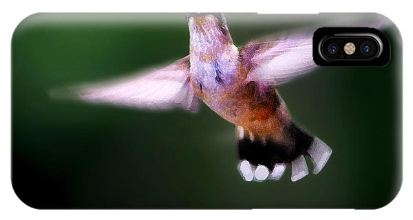 Beautiful Hummingbird iPhone Case - Hummer Ballet 3 by ABeautifulSky Photography by Bill Caldwell