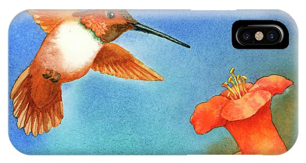 Humming Bird iPhone Case - Hummer by Tracy L Teeter