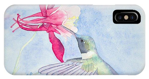 Hummingbird And Columbine IPhone Case