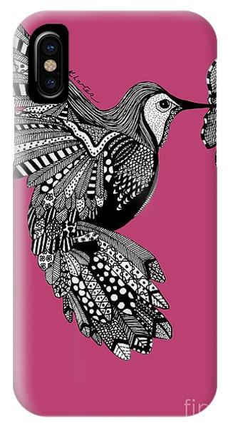 Hummingbird Flight 5 Phone Case by Karen Larter