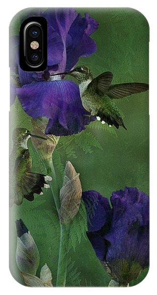 Hummingbird Gathering IPhone Case