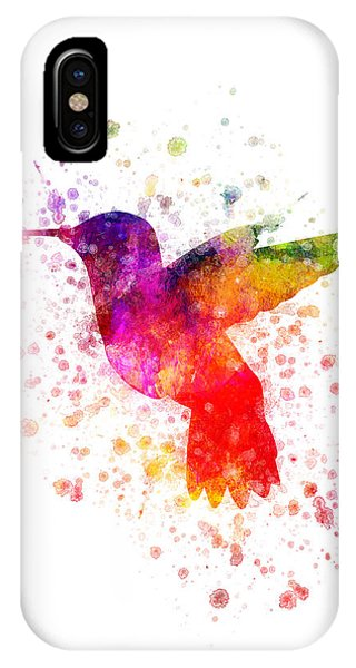 Hummingbird In Color IPhone Case