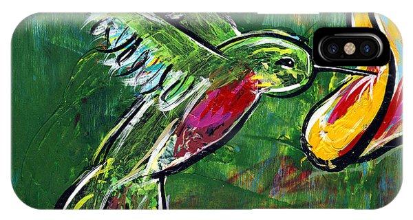 Midnite iPhone Case - Hummingbird Iv by Lovejoy