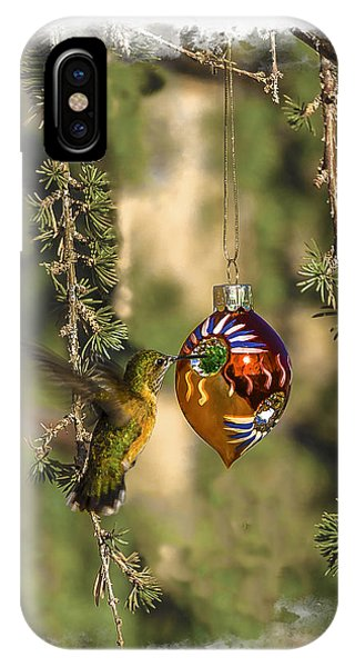Hummingbird Ornament IPhone Case
