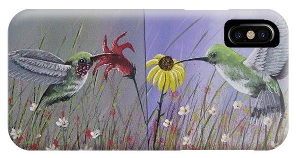 Hummingbird Pair IPhone Case