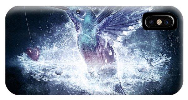 Hummingbird Print IPhone Case