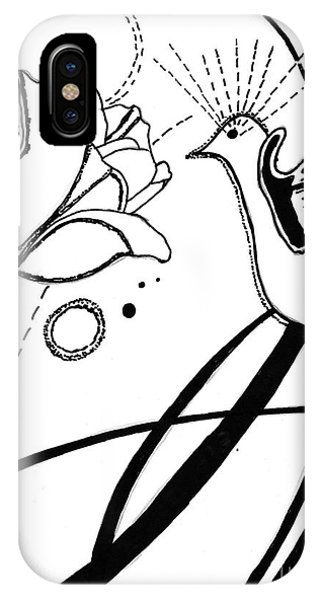 Hummingbird With Flower IPhone Case