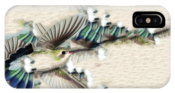 Hummingbird With Happy Feet IPhone Case