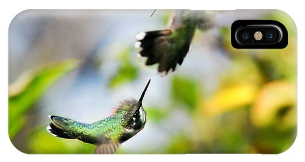 Hummingbirds Ensuing Battle IPhone Case