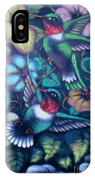Hummingbirds IPhone Case