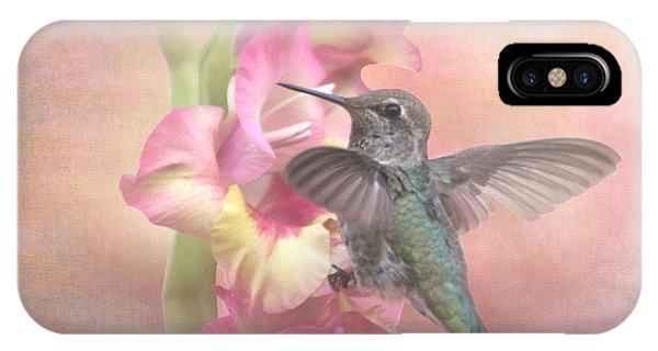 Hummingbirds Gladiola IPhone Case