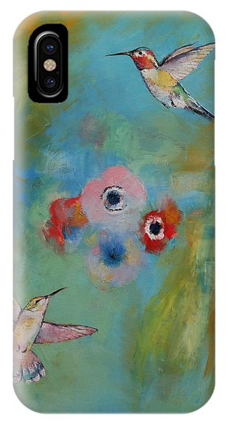 Humming Bird iPhone Case - Hummingbirds by Michael Creese