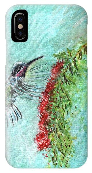 Hummingbird Bird Phone Case by Remy Francis