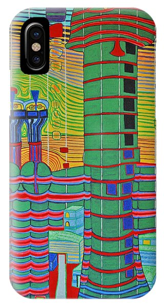 Hundertwasser Das Ende Griechenlands In 3d By J.j.b. IPhone Case
