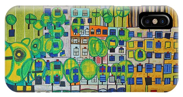 Courthouse iPhone Case - Hundertwasser The Three Skins In 3d By J.j.b. by Jesse Jackson Brown
