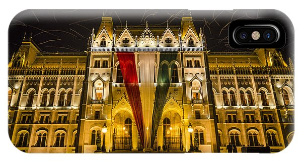 Hungarian Parliament At Night IPhone Case
