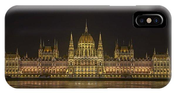 Hungarian Parliament Building Night IPhone Case