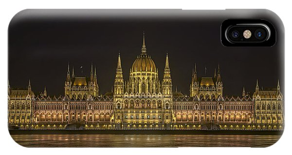 Hungarian Parliament Building Night IPhone Case