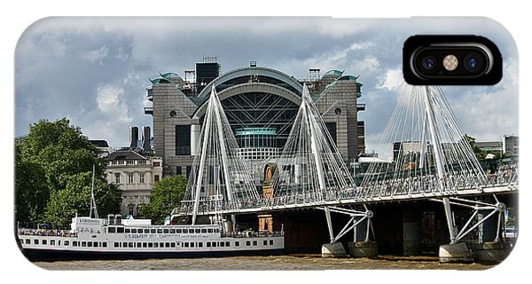 IPhone Case featuring the photograph Hungerford Bridge And Charing Cross by Jeremy Hayden