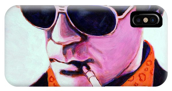 IPhone Case featuring the painting Hunter S Thompson by Bob Baker