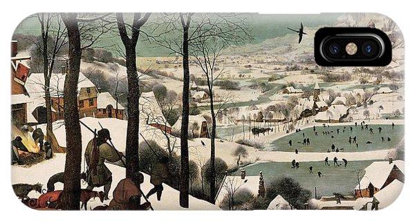 iPhone Case - Hunters In The Snow Pieter Bruegel by Pieter Bruegel