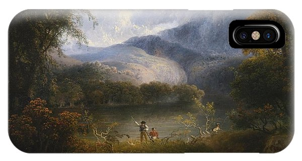 Hunters With A Dog In A Landscape IPhone Case