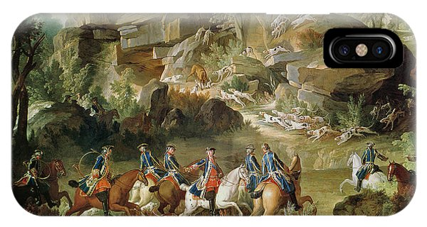 Hunting In The Forest Of Fontainebleau At Franchard Oil On Canvas IPhone Case