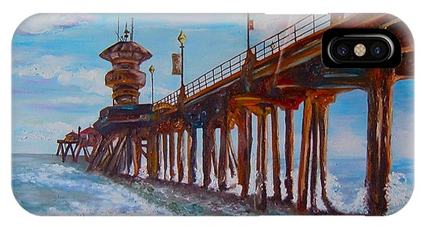 Huntington Beach Pier 2 IPhone Case