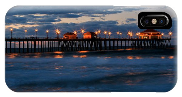 Huntington Beach Pier Lights  IPhone Case