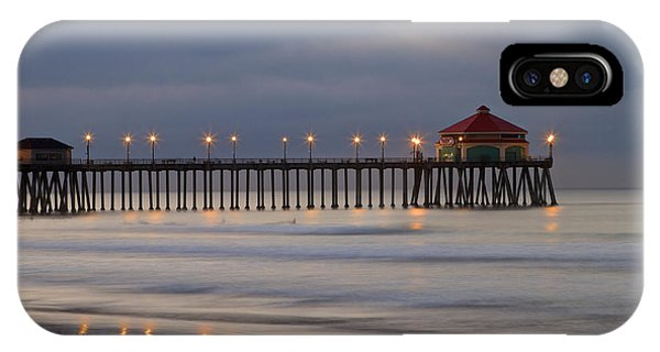 Huntington Beach Pier Morning Lights IPhone Case