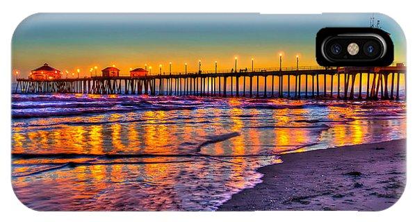 Huntington Beach Pier Sundown IPhone Case