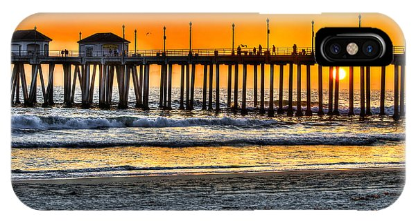 Huntington Beach Sunset IPhone Case