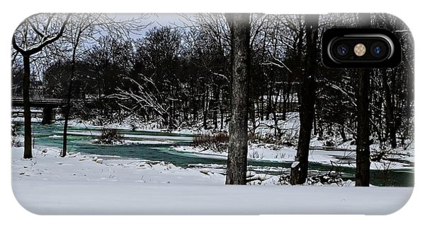 Huron River In Monroeville IPhone Case