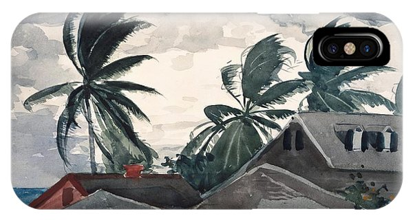 Bahamas iPhone Case - Hurricane Bahamas by Winslow Homer