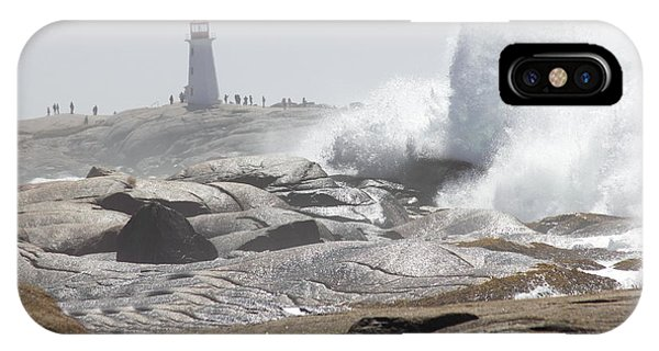 Hurricane Irene At Peggy's Cove Nova Scotia Canada IPhone Case