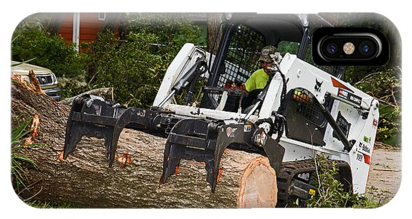 Hurricane Irma Damage, Bobcat Tractor Phone Case by Millard H. Sharp