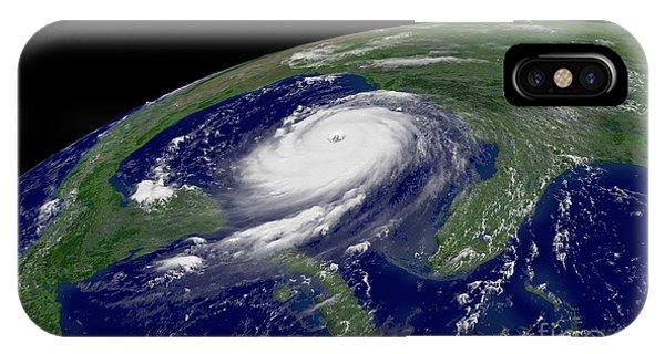Katrina iPhone Case - Hurricane Katrina by Jon Neidert