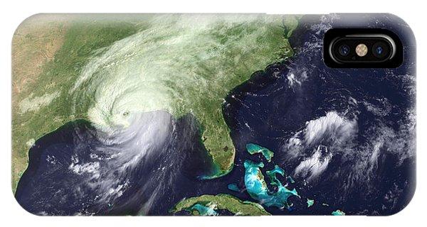 Katrina iPhone Case - Hurricane Katrina by Noaa/science Photo Library